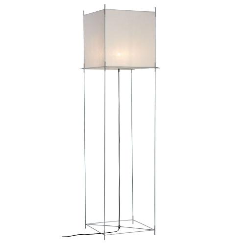 Hollands Licht Lotek XL vloerlamp, frame metaal, doek wit